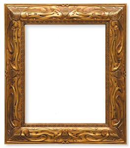 The frame faithfully replicates the patina of the original, designed by Taos school of art founder E. Irving Couse and carved and gilded by Henry Schultheis in New York in the early 1900s .